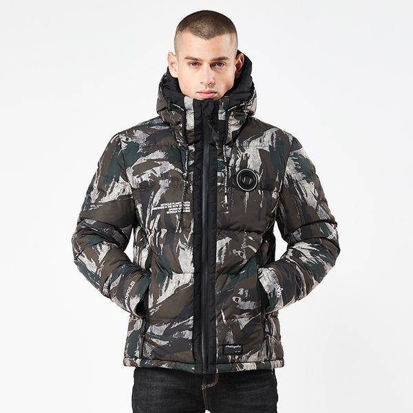 2018 Men Camouflage Coon jackets Men's Bomber Parkas Winter Jacket Mens Hooded Coat Padded Flight Jacket Overcoat 331