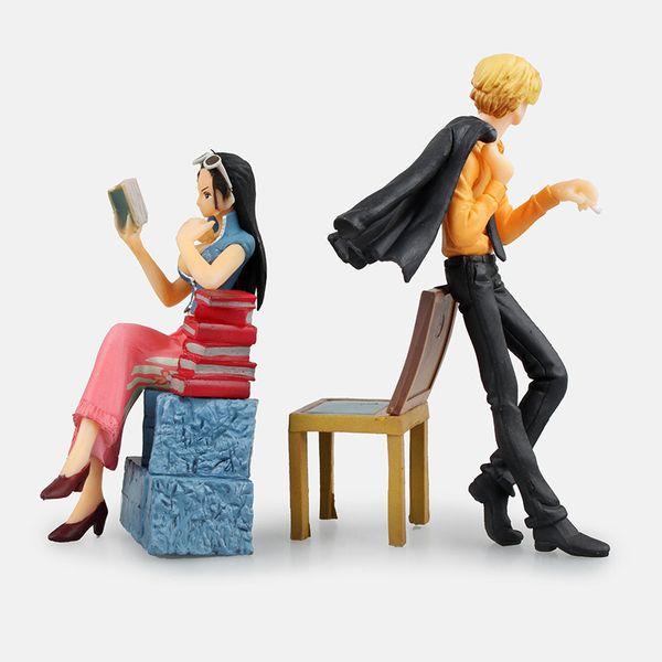 5pcs/set One Piece Boa Hancock Nico Robin Zoro sanji Anime Action Figure PVC Collection Model toys for christmas gift