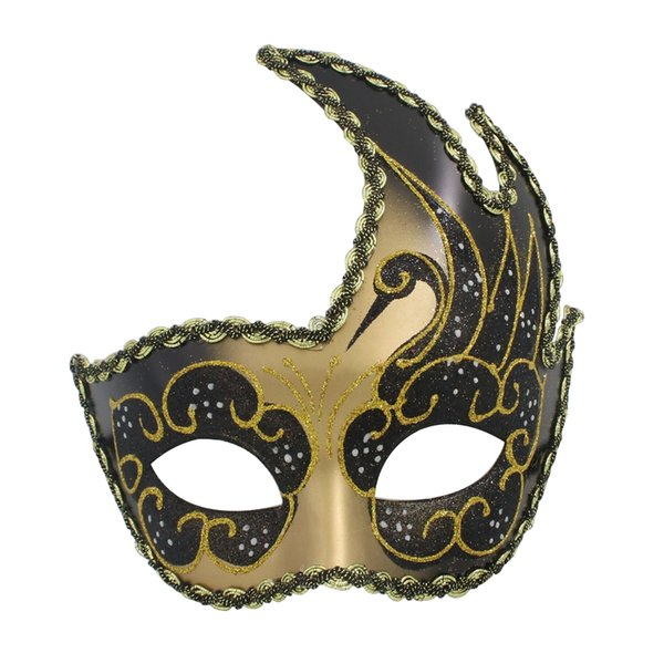 C/Miracle Elegant Venetian Masquerade Masks Halloween Costumes Party Prom Joker Wall Decorative Art Collection Accessory