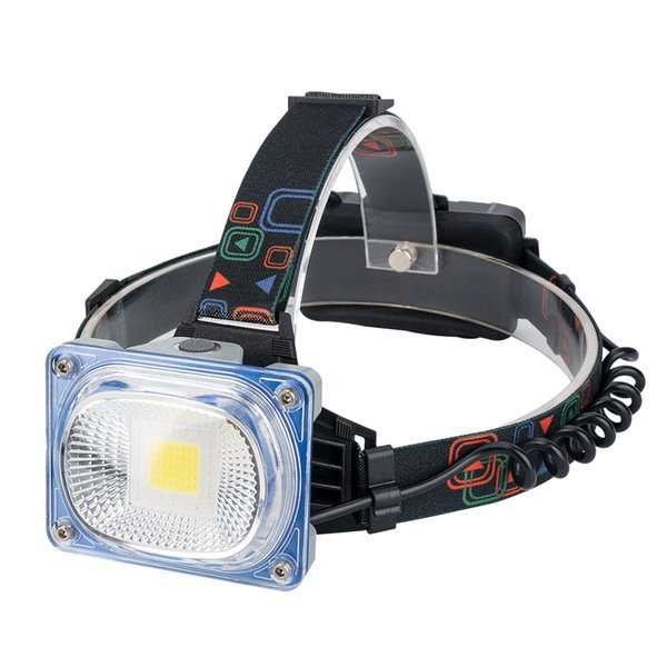 3000LM COB LED Headlight Headlamp USB Rechargeable Waterproof Flashlight Adjustable Angle Outdoor Lamp White Blue Red Flash Lamp 18650