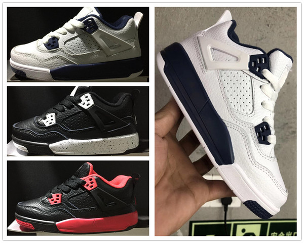 2018 Baby Kids 4 7s Basketball shoes blue Alternate 89 Pure Money White Cement Royalty bred Fire Red Black Cat 7 Girls Boys oreo sneakers 4