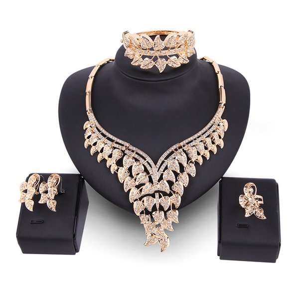Crown Earring Necklace Wedding Bridal Party Bridal Jewelry Set Crystal Bridal Earrings Accessories Wedding Jewelry Sets Fashion Style Hot