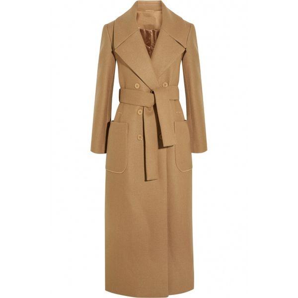 X-Lange Wolle Cabanjacken mit Gürtel Herbst Winter 2016 neue schlanke elegante Frauen Camel Wolle Trenchcoats 2016 Herbst Wintermantel Frauen