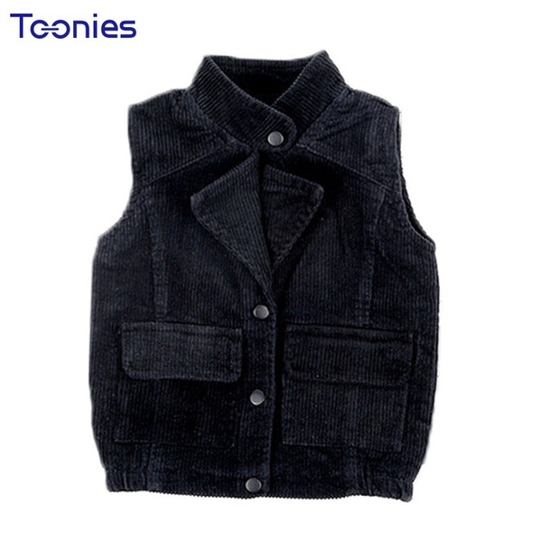 9be0bd2a443e 2018 Autumn Kids Vest Warm Corduroy Girls Boys Clothes Cotton Vests ...