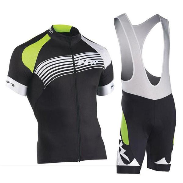 Northwave team Мужские удобные дышащие шорты с нагрудником с коротким рукавом Спортивный джерси Велоспорт с короткими рукавами и шортами-нагрудниками из джерси S72910