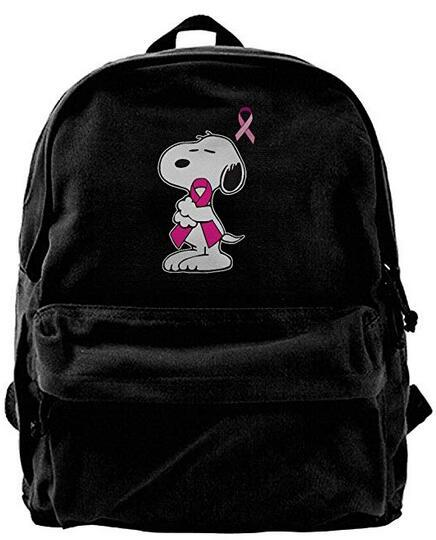 Consciência Do Câncer De Peito rosa Moda Ombro Da Lona Mochila Para Homens Mulheres Adolescentes College Travel Daypack designer de mochila mochila