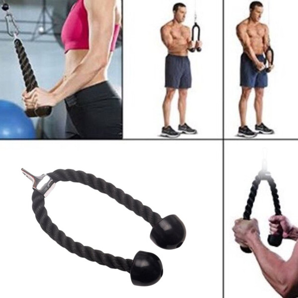 Heavy Duty Triceps Rope Attachment Cable Bodybuilding Plastic Nylon Gym For Triceps Biceps Shoulders Fitness Training Cable