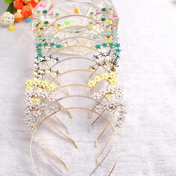 Kids Cartoon Headband Flower Cat Ear Head Hoop For Kids Girls Headwear Decoration Birthday New Year