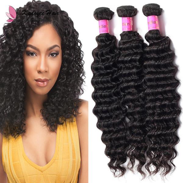 Wholesale Price 8-30inch Unprocessed Virgin Human Hair Weave Bundles Deep Wave 1B Hair Weaving Extensions Double Weft uk us eu