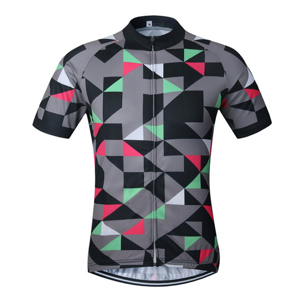 Fast Drying Bicycle Clothing Elastic Force Body Building Clothes Short Sleeve Ventilation Net Yarn Polyester Fiber Jacket 40ss jj