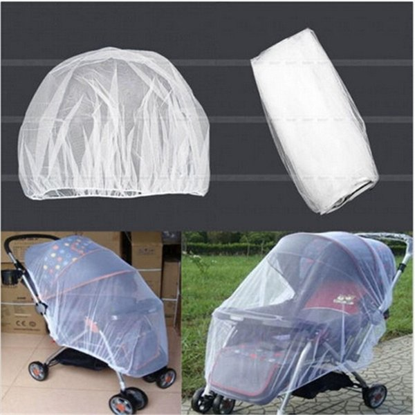 Urijk Brand Newborn Toddler Infant Baby Stroller Crip Netting Pushchair Mosquito Insect Net Safe Mesh Buggy White Baby Protector