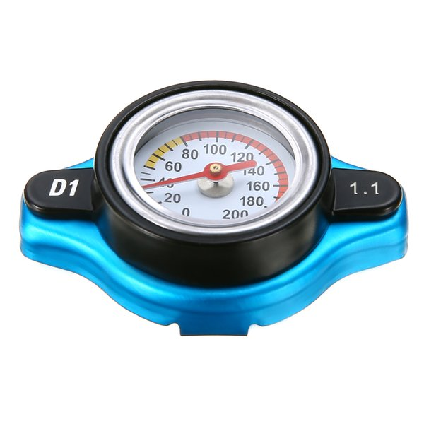 top popular Universal Car 1.1 Bar Thermostatic Thermo Radiator Cap High Quality 16 PSI Pressure Rating Temperature Gauge Radiator Cover 2019