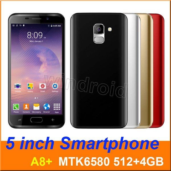 "5"" Mini s9 A8+ Quad Core MTK6580 Android 6.1 Smart phone 512+4GB Dual SIM camera 5MP 540*960 3G WCDMA Unlocked Mobile Gesture face unlock"