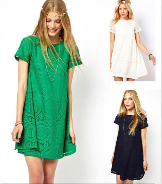 top popular Fashion Women Ladies Clothing Casual Lace Dress Blouse Tunic Dresses Slim Elegant Lace M203 2019