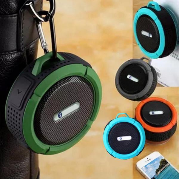 High quality C6 Mini Portable Outdoor Sports Wireless Waterproof Bluetooth 3.0 Speakers Shower Bicycle Speaker For Bike/Bathroom