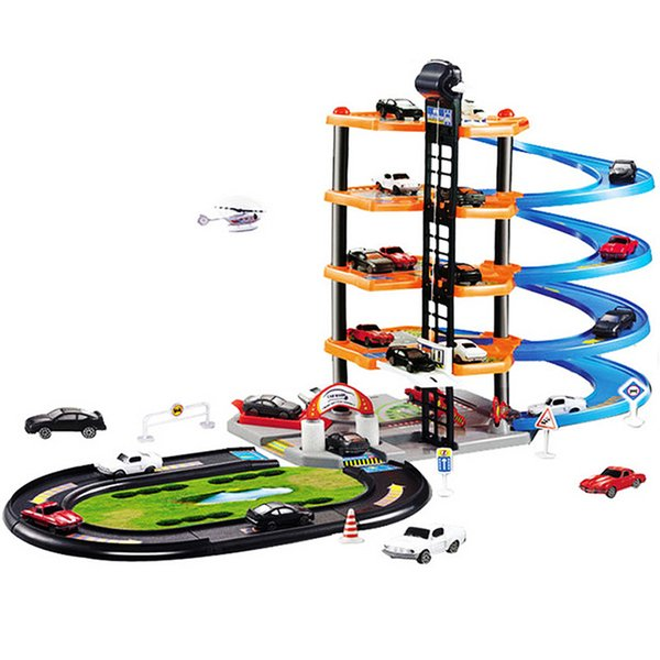 DIY Track Car Racing Track Toy 3D Car Parking lot Assemble Railway Rail Toy DIY Slot Model for Children Free Shipping