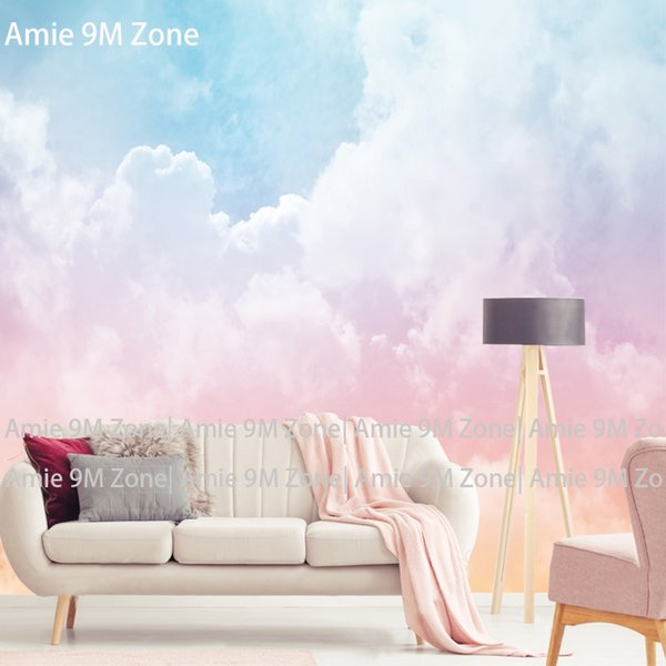 Tuya Art Pink White Blue Cloud Wallpaper For Kid\'s Room Bedroom Mural Wall  Papers 3D Desktop Background Wallpapers Home Decor Wallpapers Free Download  ...