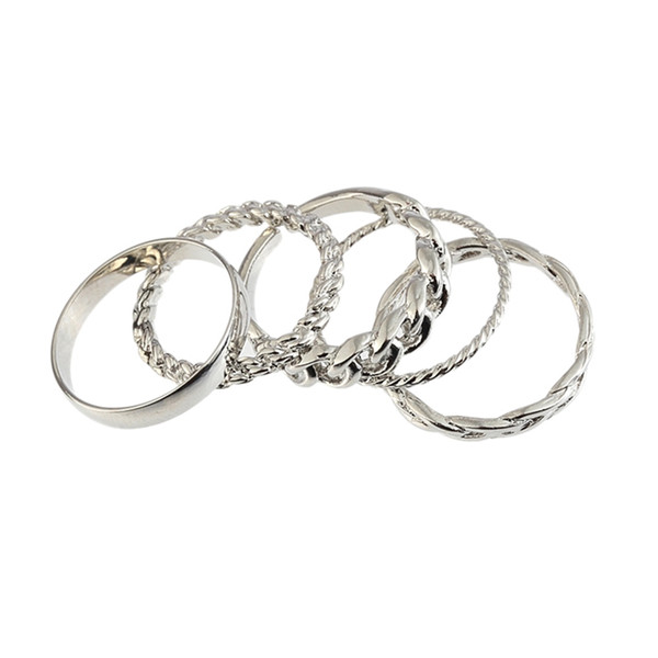 5PCS Fashion Jewelry New Korean Bangtan Boys Album BTS Ring Kim Tae Hyung Rings Set Vintage Bague Argent Rings For Women Men