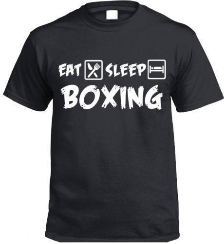 Eat Sleep Boxing T-Shirt Funny Gift Boxers Present Mens 2018 fashion Brand