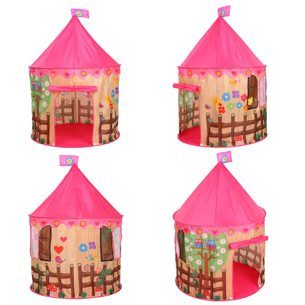 best service bf0a1 dfb4e Portable Kids Play Tent Princess Castle Tent Children Play Game Teepee  House Cartoon Birds Flower Printing Indoor Outdoor Toy Cheap Kids Play  Tents ...
