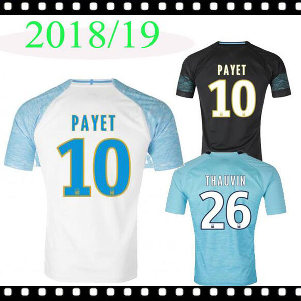 best loved 55774 3e039 2019 BEST 2018 2019 Olympique De Marseille Jersey Soccer L.OCAMPOS 18 19  Home PAYET CLINTON Marseille Away 3rd CABELLA L.GUSTAVO GERMAIN Maillot  From ...