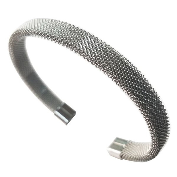 Stainless Steel Net Wire Line cuff WristBand Bracelet Bangles Women Cable Stretch Jewelry