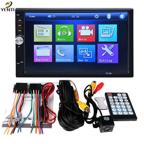 Free shipping dhl yentl 2 Din Car DVD 7 inch HD In Dash Touch Screen BluetoothCar Radio Player Stereo USB Touch Screen 2 DIN Car MP5 MP3
