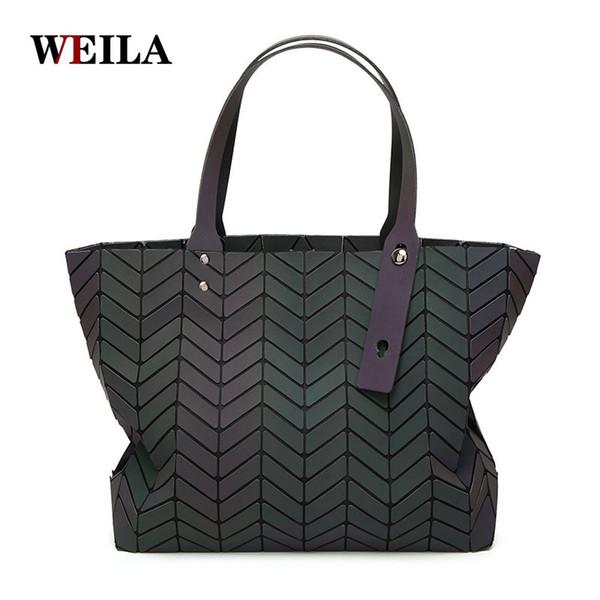 Borse di lusso Borse donna Designer Geometry Paillettes luminose Sacchetti di spalla pieghevoli a tinta unita Tote Famous Brands Lady Tote Hand Bag
