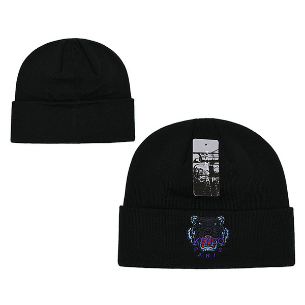 2019 hot design fashion tiger Skateboards beanie hat all trend winter beanies hats for man and women warm beanie gorro Bonnet Skull cap