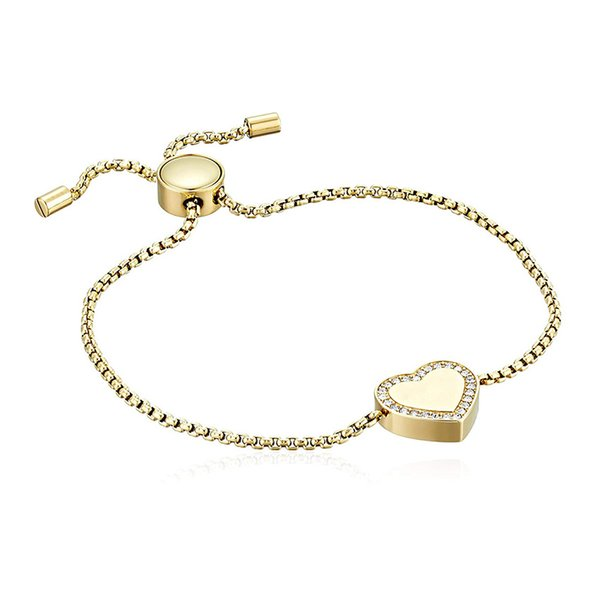 Luxury Brand designer Bracelets women Crystal rhinestone Love Heart shaped with Letter charm adjustable chain Bangle For Fashion Jewelry