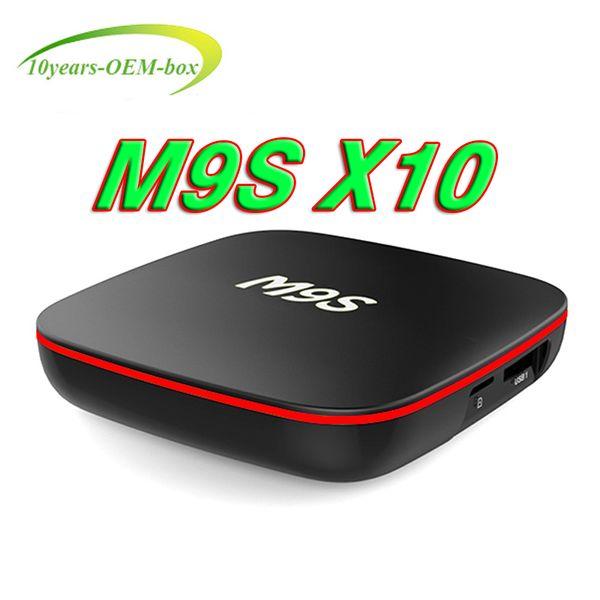 Android 7.1 Smart TV BOX M9S X10 4K Quad Core TV Box 2GB/16GB Bluetooth WIFI LAN Media Player IPTV