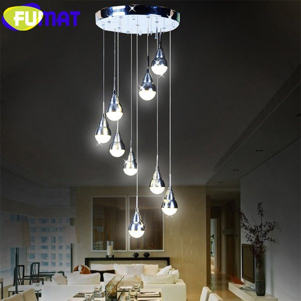 FUMAT Watt Replaceable LED Bulb Pendant Light Meteor Rain Meteoric Shower Stair Bar Droplight LED Lamp AC Lighting