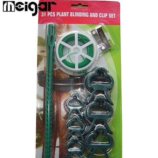 31 Pcs / Set En Plastique Outils de Greffage Jardin Jardin Agricole Verger Vignoble Outils de Jardinage Outils Accessoires Fournitures Vert Blanc