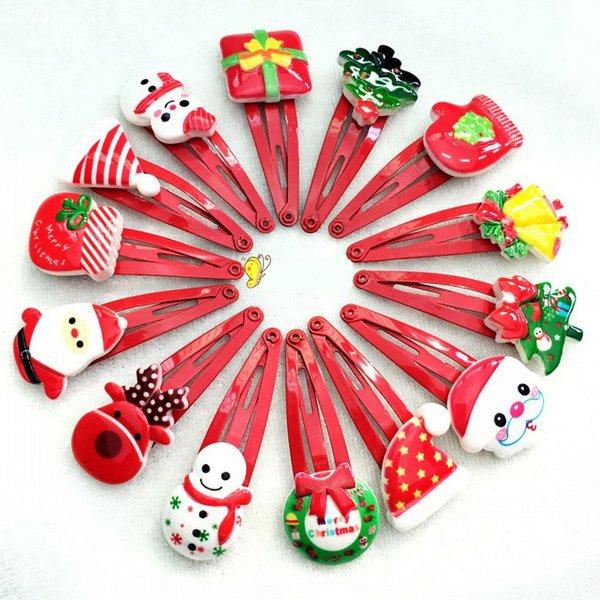New Christmas barrettes handmade kids girl hairpin baby Hair Clips Cute Hairpins Kids Headwear Hair Accessories