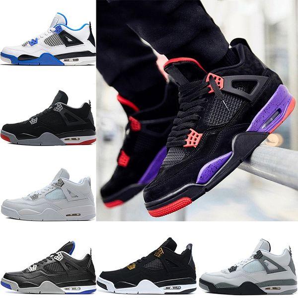 Nike Air Jordan 4 Retro Мужчины 4s Баскетбольные ботинки Raptors Oreo Родственники Bred Fire Red Toro Bravo Б