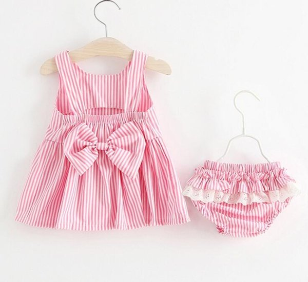 2018 Baby Girls Dress Big Bowknot Infant Party Dress For Toddler Girl First Brithday Baptism Clothes Double Formal Tutu Dresses