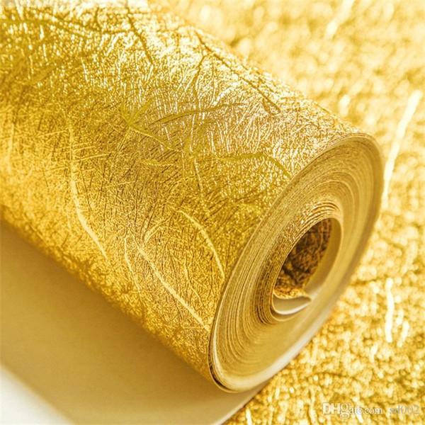 Carta da parati resistente alla muffa dell'acqua Ktv Bar Hotel Home Television Adesivo da parete in lamina d'oro sfondo facile da pulire di alta qualità colore puro 55jr bb