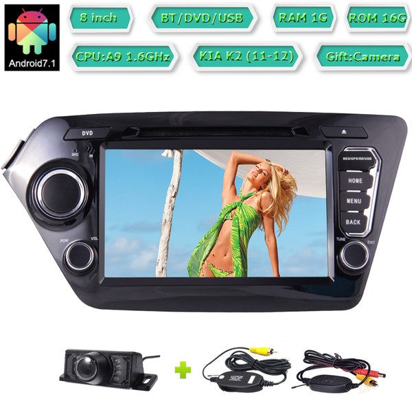 """8"""" Android 7.1 Car dvd Video Receiver Double 2 Din In Dash Head Unit Radio AM FM Radio Bluetooth Wireless Backup Camera"""