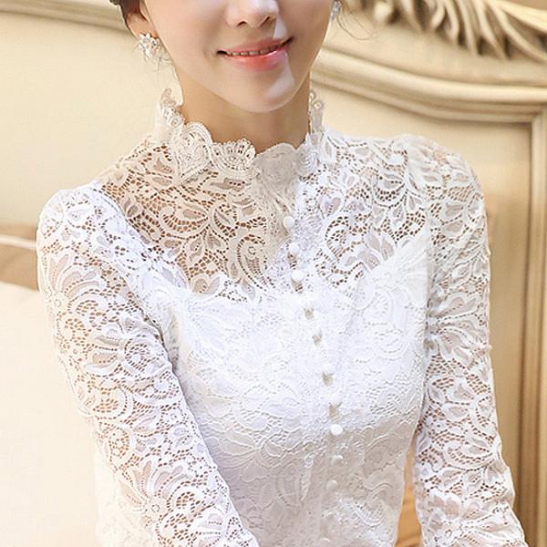 camisa de manga larga de alta calidad de la marca feminina de la camisa de la camisa de manga larga de las mujeres delgadas de la camisa blanca delgados Blusa femenina 0410