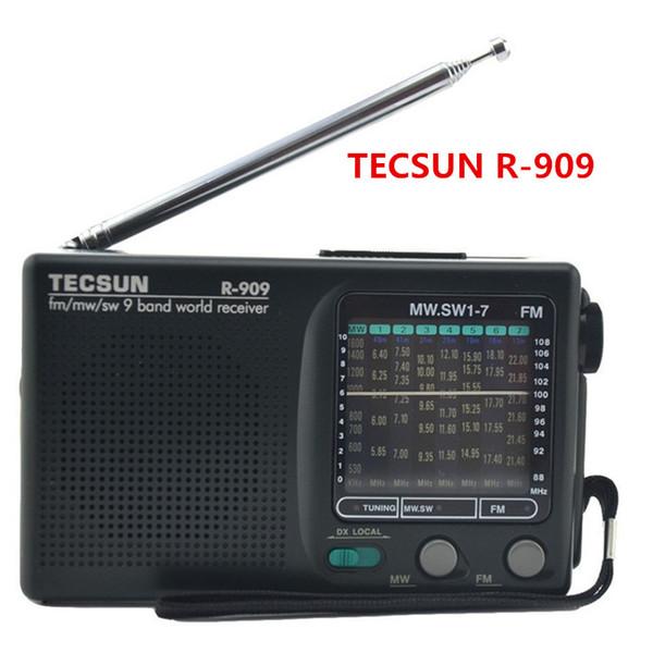 Bas prix Tecsun R-909 FM / MW / SW Bande Mot Récepteur Radio FM Portable stéréo Tecsun R909 radio de poche numérique livraison gratuite