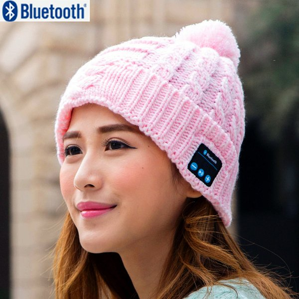 Christmas gift ! New Arrival Bluetooth beanie Hat Cap Knitted Winter Magic Hands-free Music mp3 Hat for woman Men Smartphone P10