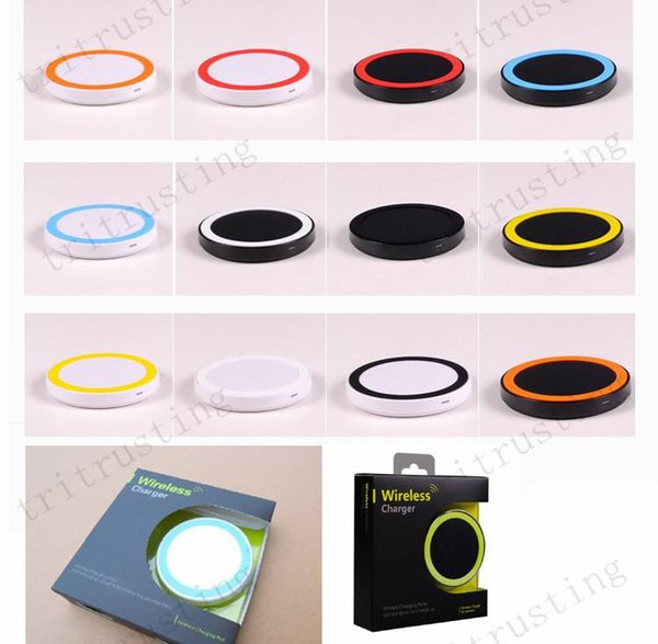 Q5 Qi Wireless Charger Cell phone Mini Charge Pad For Qi-abled device Samsung Galaxy S3 S4 S5 S6 Note2/3/4 Nokia HTC LG Iphone phone MQ50