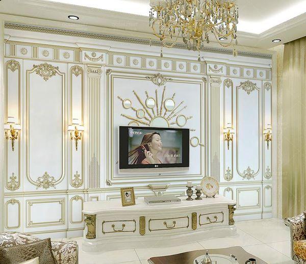 best selling custom 3d mural wallpaper Embossed classical European 3d wall murals 3 d Living room bedroom Background wall nonwoven wallpaper
