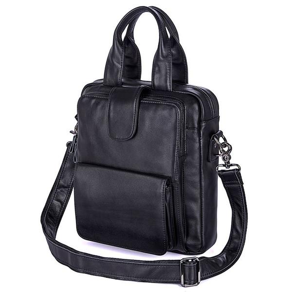 Nesitu Vintage Black 100% di garanzia degli uomini del cuoio genuino borse a tracolla uomo cartella per 12.9 '' ipad maschio portafoglio M7266