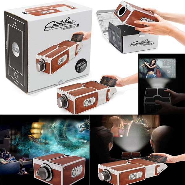 Smartphone Theater Cinema V2.0 DIY Mobile Phone Projector For Android iPhone IOS