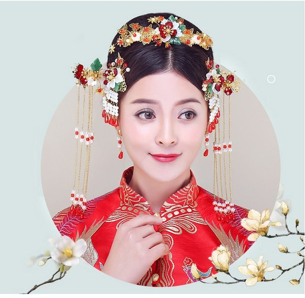 Brides, costume, headwear, Chinese comb accessories, wedding dresses and accessories. (eight)