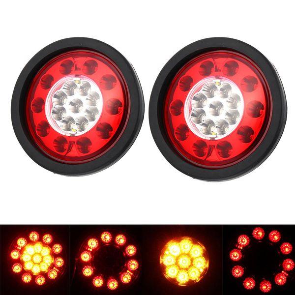 1 paio 19 LED luci posteriori posteriori per auto stop freno fanale posteriore fanale tondo anello di gomma per camion rimorchi veicoli HEHEMM 12V / 24V