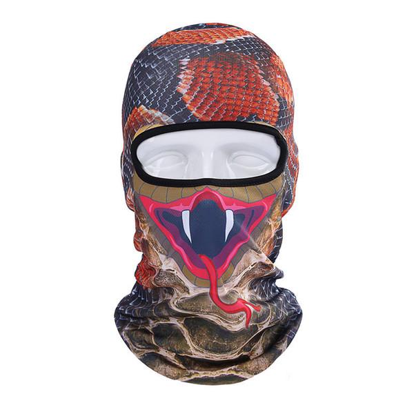 Fashion Hood Cover Neck Scarf Hats Dust-proof Headgear Animal Cat Dog Lion Tiger Pattern Men Women Full Face Mask Balaclava