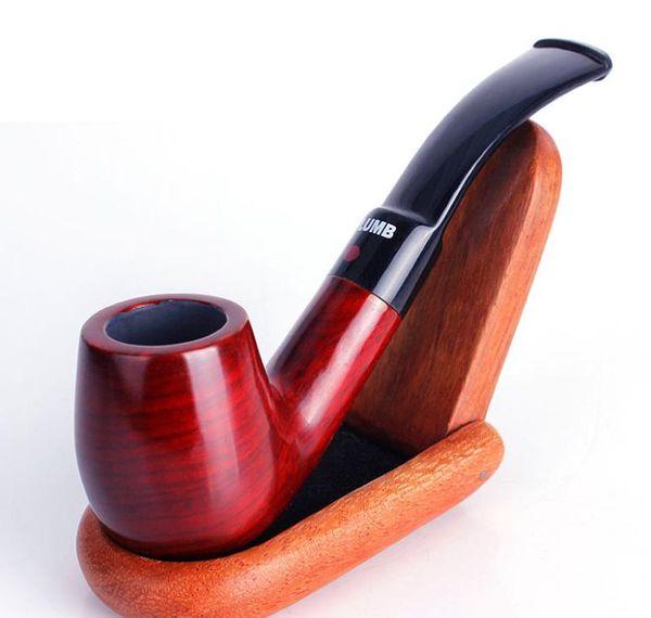 New mahogany curved hammer pipe Mini man portable cigarette smoking set