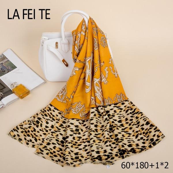Leopard Print Cashmere Winter Scarf Women Warm Shawl Foulard Femme Pashmina Luxury Stole Cotton Neck Women Scarf For Ladies 2018